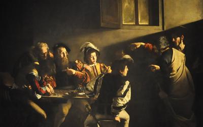 La vocation de Saint Matthieu du Caravage