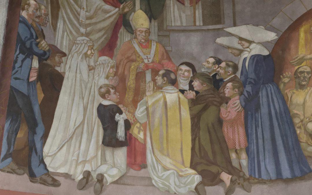 Registre inférieur de la peinture de la Pentecôte, 1ère partie
